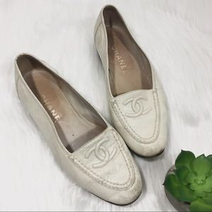 CHANEL Classic Loafer wooden heel flat